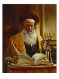 Rabbi Delivering a Sermon Giclée par Joseph Jost