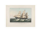 The Clipper Ship  Sovereign of the Seas  c1852
