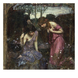 Nymphs Finding the Head of Orpheus Giclée par John William Waterhouse