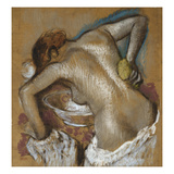 Woman Washing Her Back with a Sponge; Femme S'Epongeant Le Dos