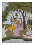 Krishna and Radha Making Music Giclée