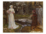 Dante and Beatrice Giclée par John William Waterhouse