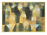 Trois maisons et un pont Giclée par Paul Klee