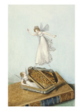 Fairies Playing with a Snuff Box Resting on a Book