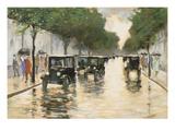 A Berlin Street in the Rain; Berliner Strasse Im Regen