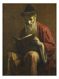An Ashkenazi Rabbi of Jerusalem Giclée par George Sherwood Hunter