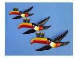 A Set of Three Carltonware Graduated Guinness Advertising Toucan Wall Hangings