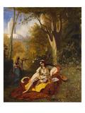 An Algerian Woman and Her Servant in a Garden