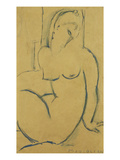 Seated Woman; Femme Assise Giclée par Amedeo Modigliani
