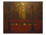 The Pond at Versailles in Autumn; Le Bassin a Versailles En Automne