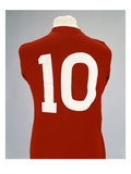 A Red England World Cup Final International Shirt  No10  Worn by Geoff Hurst in 1966 World Cup…