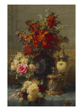 Roses  Anemones and Peonies  Strawberries  a Silver-Gilt Ostrich Egg Cup and a German Gold-Gilt…