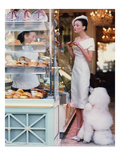 Vogue - March 1999 - At the Patisserie Photo premium par Arthur Elgort
