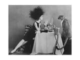 Vogue - November 1960 - Dining with a Cheetah Reproduction d'art par Leombruno-Bodi
