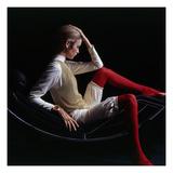 Vogue - November 1967 - Twiggy 1967 Reproduction d'art par Bert Stern