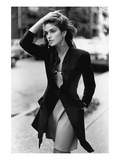 Vogue - February 1988 - Cindy Crawford, 1988 Photo premium par Arthur Elgort