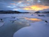 The Fjord of Tjeldsundet in Troms County  Norway