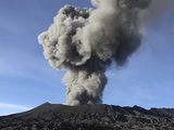 Eruption of Ash Cloud from Mount Bromo Volcano  Tengger Caldera  Java  Indonesia