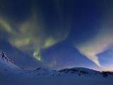 Aurora Borealis over Skittendalen Valley in Troms County  Norway