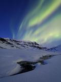 Aurora over Skittendalstinden in Troms County  Norway