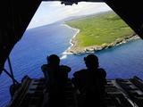 Loadmasters Look Out over Tumon Bay from a C-130 Hercules