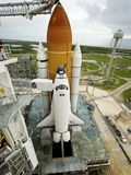 Space Shuttle Atlantis on the Launch Pad at Kennedy Space Center  Florida