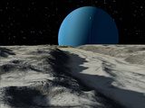 Uranus Seen from the Surface of its Moon  Ariel