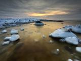 A Frozen  Rusty Bay on Andoya Island in Nordland County  Norway