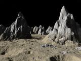 Illustration of the Surface of the Massive Asgard Impact Basin on Jupiter's Moon  Callisto