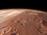 Heavily Cratered Highlands on the Surface of Mars