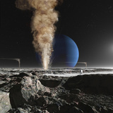 An Astronaut Observes the Ruption of One of Triton's Giant Cryogeysers