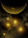 Artist's Concept Illustrating a Star Cluster in the Milky Way Galaxy