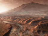 A Light Fog Forms in a Desiccated Gully in Gale Crater  Mars