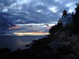 A Moody Sky over Bass Harbor Head Lighthouse at Sunset