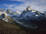 Cerro Torre (Left) and Fitzroy  from Loma Del Pueque Umbado  Los Glaciares Nat'l Park  Argentina