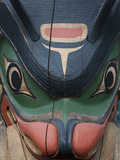 A Close View of a Totem Pole