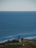 Aerial of the Lighthouse on Seguin Island  Maine