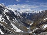 River Descends from Southern Alps to Waimakariri River  Arthur's Pass Nat'l Park  New Zealand
