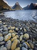 Mitre Peak in Summer  Milford Sound  Fiordland National Park  New Zealand