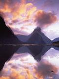 Mitre Peak at Sunset  Milford Sound  Fiordland National Park  New Zealand