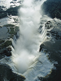 Aerial View over the Iguacu Falls  World's Largest Waterfalls