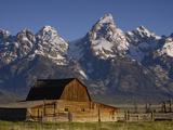 Cunningham Cabin in Front of Grand Teton Range  Wyoming