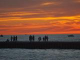 Grand Haven Pier on Lake Michigan at Twilight