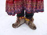 Reindeer Fur Boots at Ounaskievari Reindeer Farm