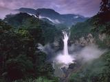 San Rafael or Coca Falls on the Quijos River  Amazon  Ecuador