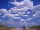 Clouds in a Vast Sky Above a Highway in Montana