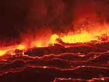 Waves of Lava in Nyiragongo's Crater