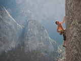 A Climber  Without a Rope  Grips an Expanse of El Capitan