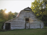 Sun Rises Behind a 100-Year-Old Barn Along Historic Maple Grove Road