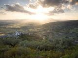 A Dramatic Sunset and the Village of Assisi
